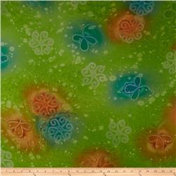 Paradise Chiffon Shadow Floral Chiffon Swirl Orange/Lime