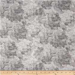 "108"" Wide Charisse Quilt Back Tonal Floral Grey"
