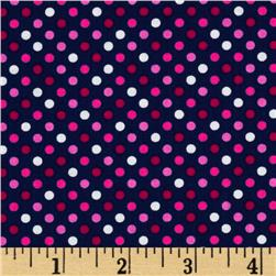 In the Navy Swiss Dot Navy/Pink/White