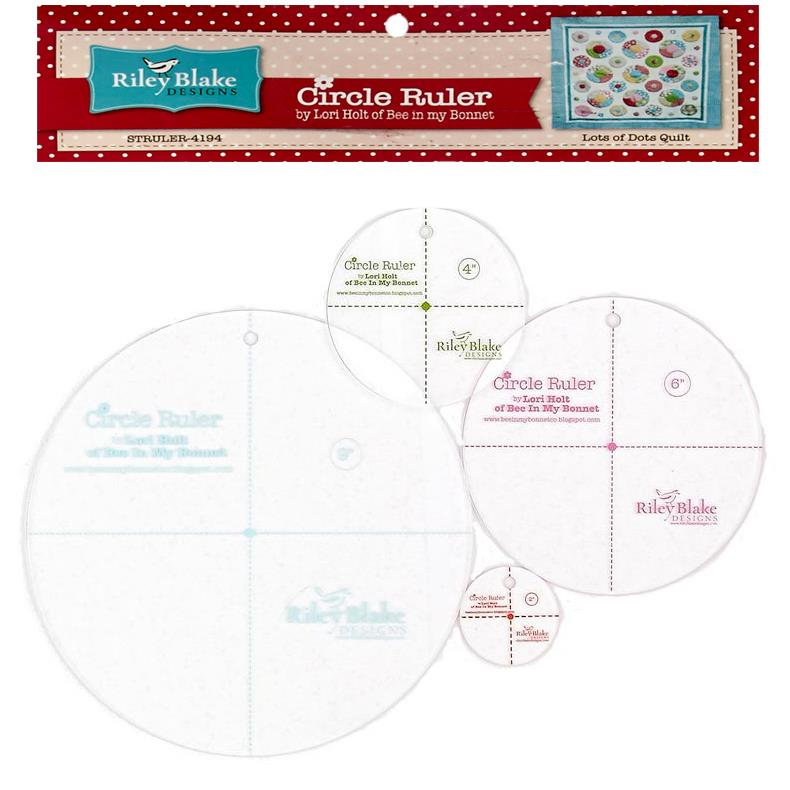 "Lori Holt Circle Ruler Kit 10"", 7"", 5"", 2.5"""