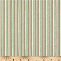 Outback Stripe Teal Fabric