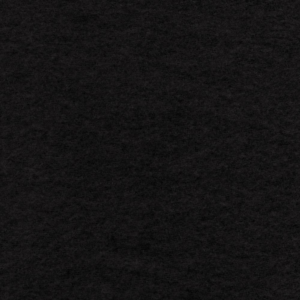 The season wool collection wool melton jet black for Black fabric