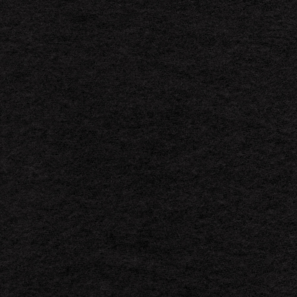 The Season Wool Collection Wool Melton Jet Black Fabric by Marcus in USA