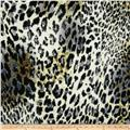 Bloom Stretch Cotton Sateen Leopard Black/Olive