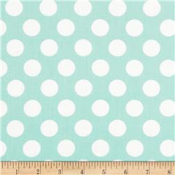Singin' the Blues Jumbo Dots Mint/White Fabric