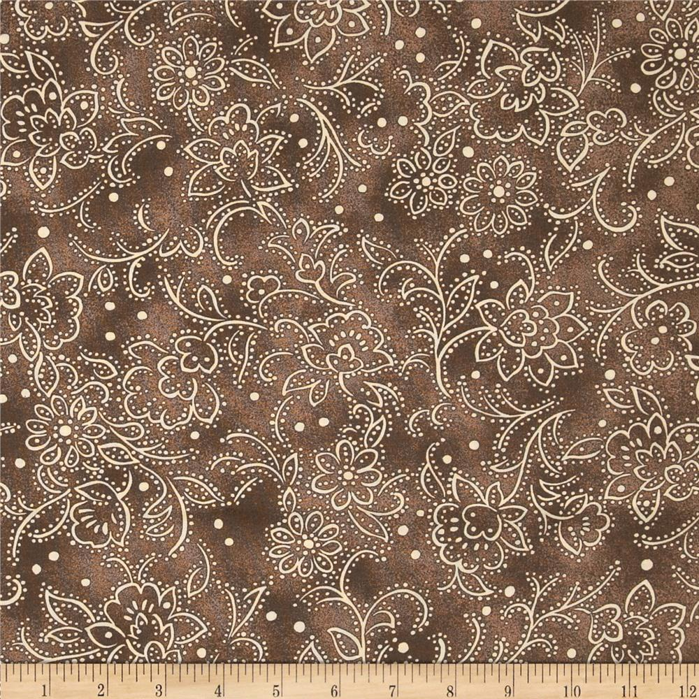 Lavender and Lace Tonal Floral Brown