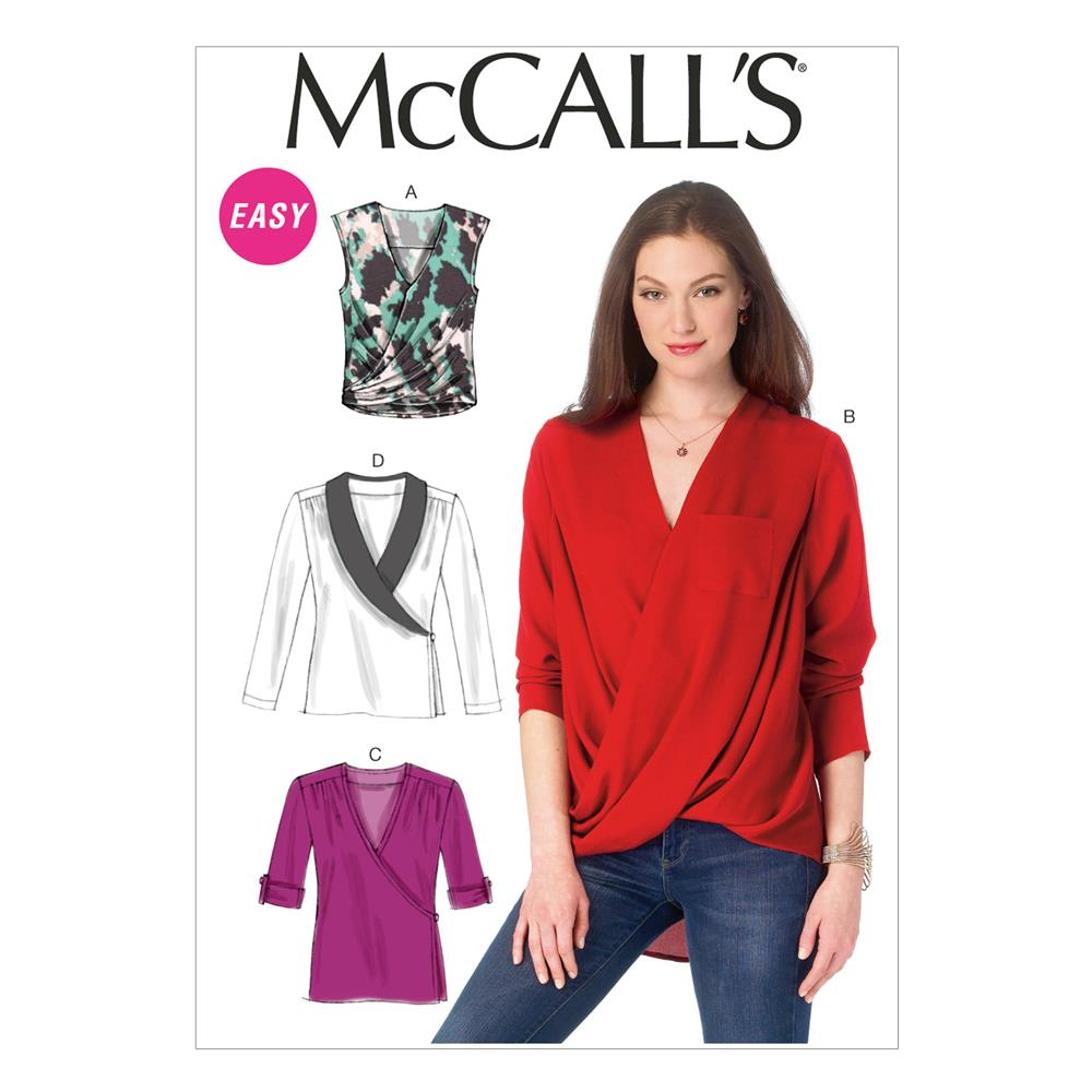 McCall's Misses' Tops Pattern M6991 Size B50