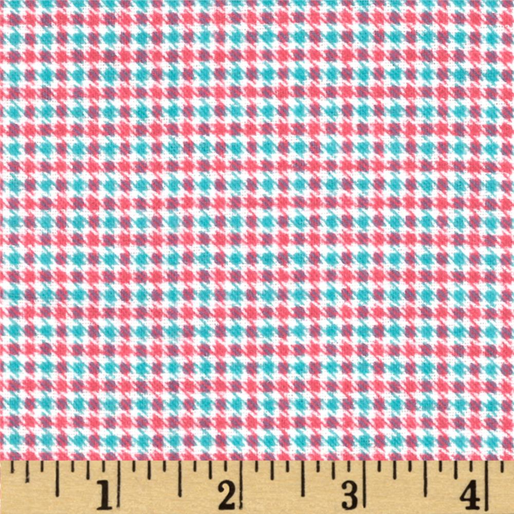 Aunt Polly's Flannel Small Checkered Pink/Aqua
