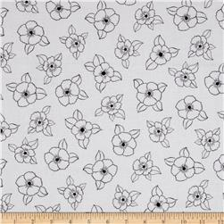 Canvas Space Linear Floral White