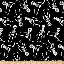 Ready Set Glow In The Dark Skeletons Black