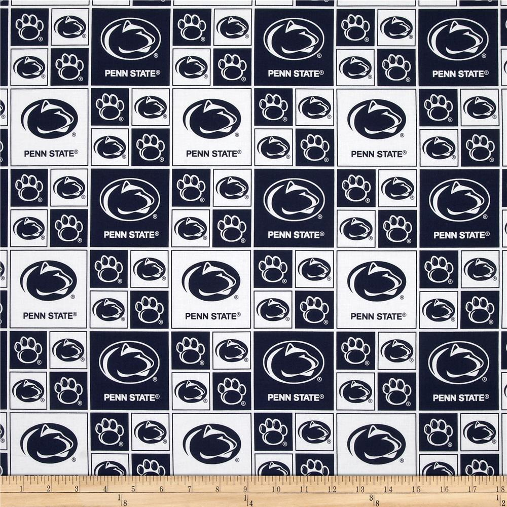 Collegiate Cotton Broadcloth Penn State White