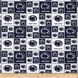 Collegiate Cotton Broadcloth Penn State White Fabric