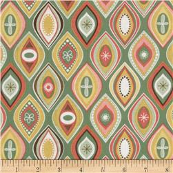 Riley Blake Valencia Geometric Green Fabric
