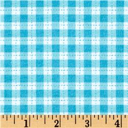 Cuddle Flannel Gingham Turquoise