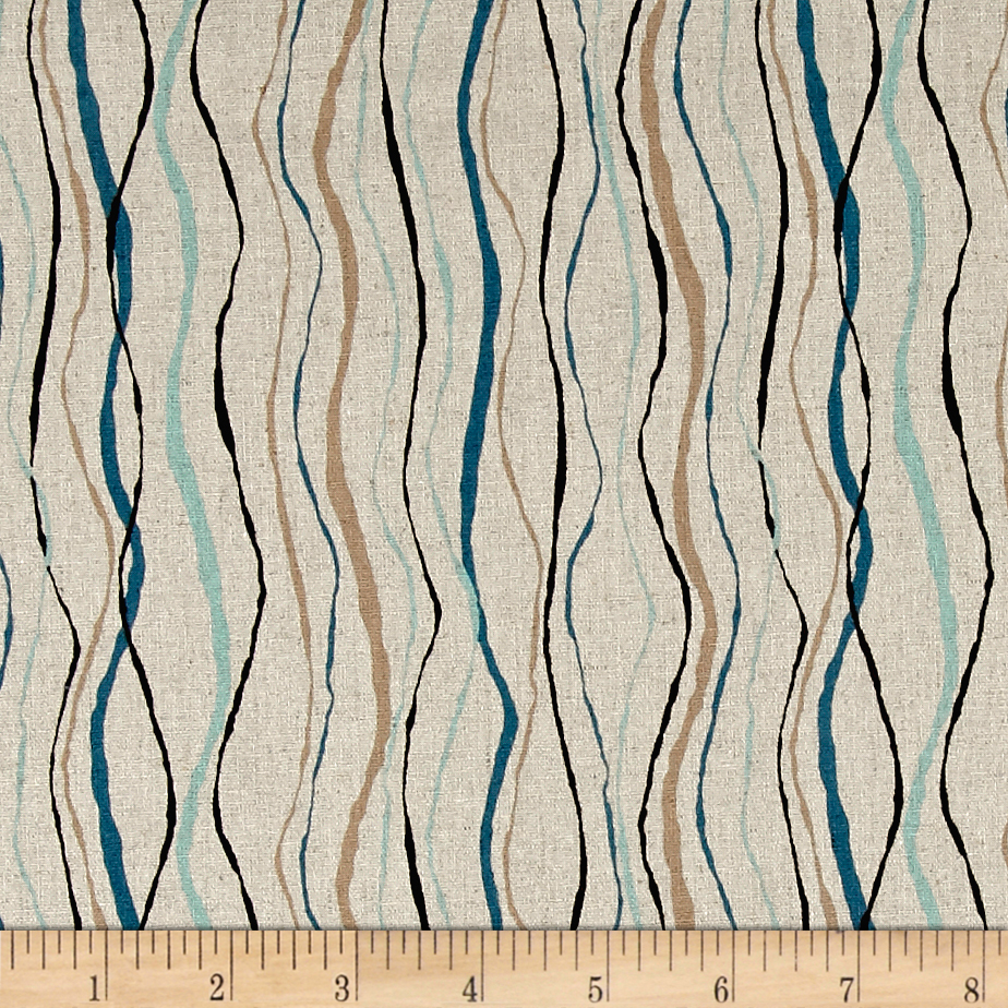 Tidal Wave Linen Blend Algae Natural Fabric by Andover & Makower in USA