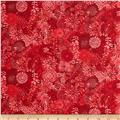 Packed Floral Tonal Red