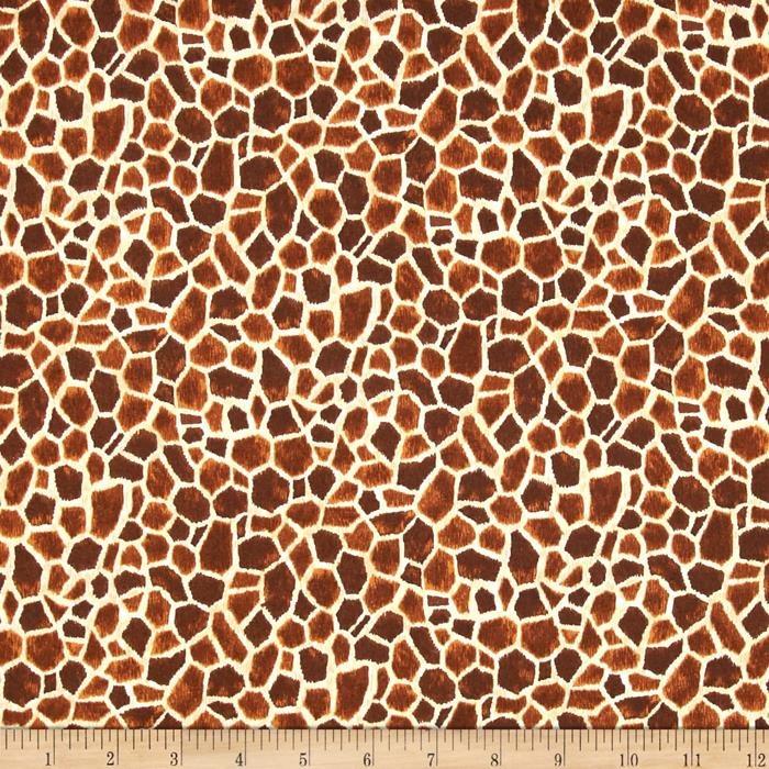 Safari Giraffe Skin Brown/Gold