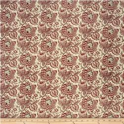French General Bordeaux Linen Rural Red