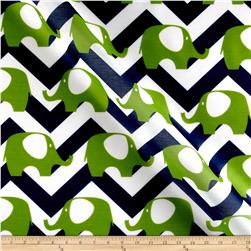 RCA Elephant Chevron Sheers Blue/Green
