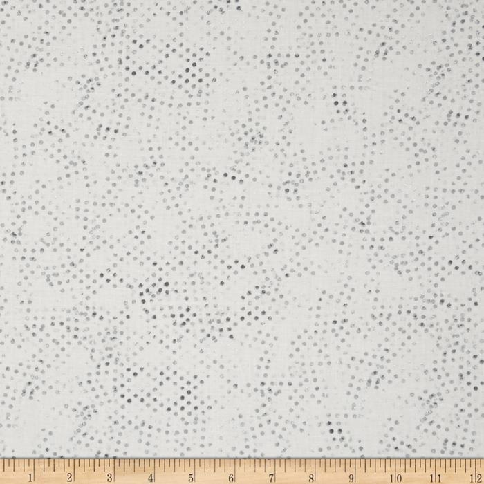 Moda Modern Background Paper Stamped Dots Steel -