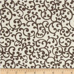 Nursery Rhyme Scroll Beige Fabric