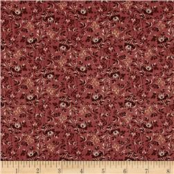 Mrs. March's Collection in Antique Small Packed Floral Burgundy