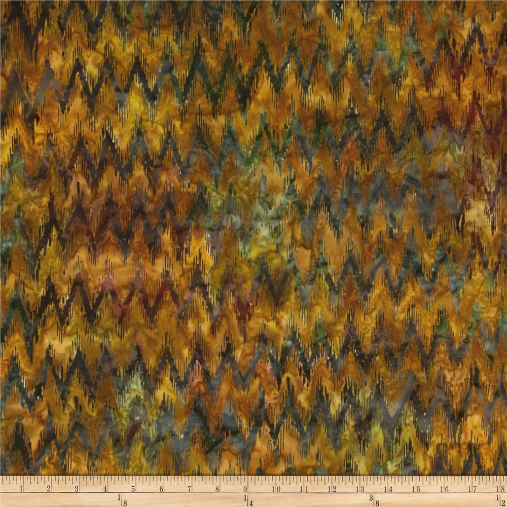 Artisan Batiks Cornucopia 4 Chevron Maize Meadow Gold