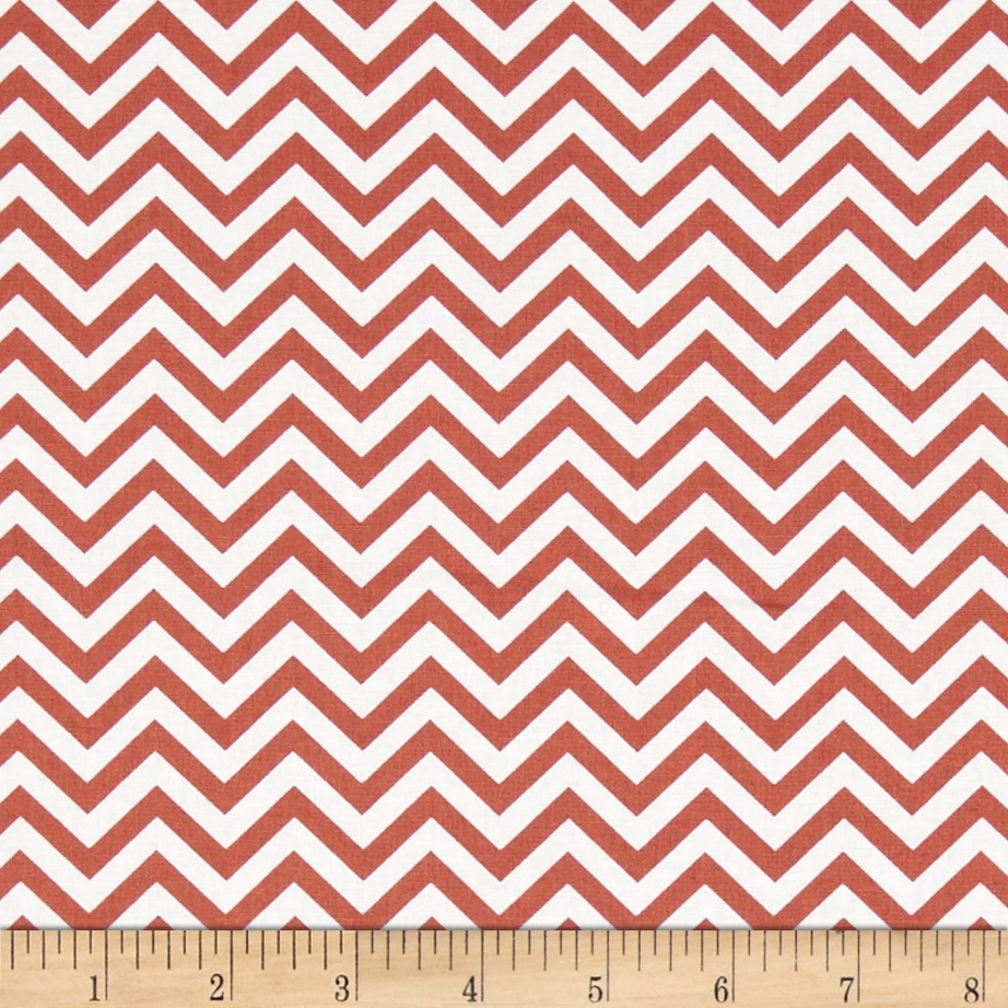 Ups & Downs Chevron Orange/White Fabric