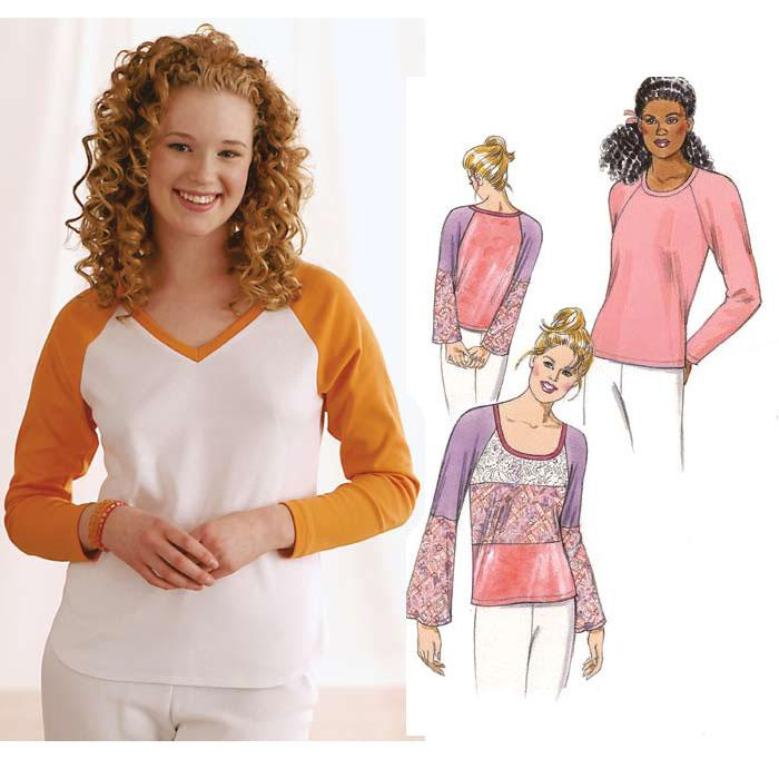 Kwik Sew Raglan Sleeve Top Pattern