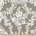 Riley Blake Lost and Found 2 Home Decor Damask Grey