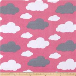 Simply Dreamy Clouds Fleece Pink