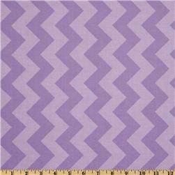 Riley Blake Chevron Medium Tonal Lavender Fabric