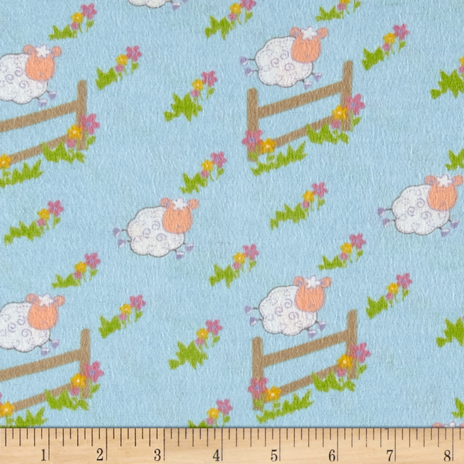 Countdown Flannel Blue Fabric by Newcastle in USA