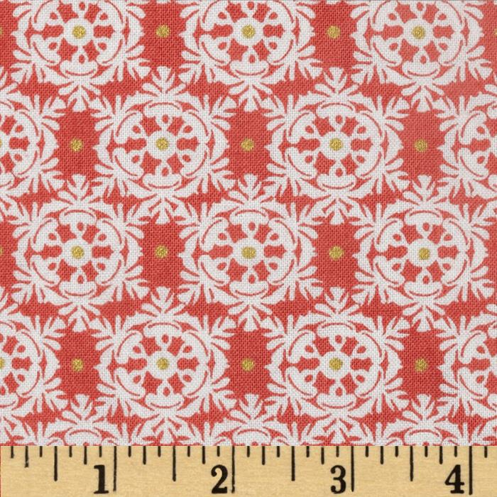 Winter's Kiss Victorian Snowflakes Metallic Orange
