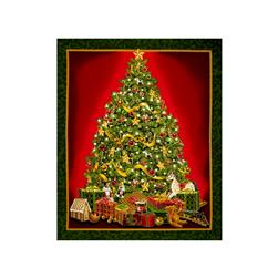 Best Time Of The Year Metallic Christmas Tree Panel Green