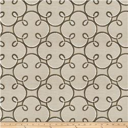Fabricut Embroidered Sugarplum Sheers Taupe