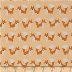 Cloud 9 Organic Fanfare Flannel Foxes Pink