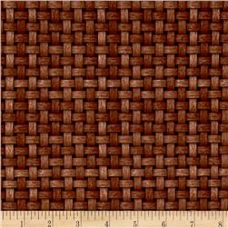 Shades of Autumn Basket Weave Brown