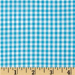 Woven 1/8'' Gingham Turquoise