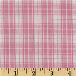 Seersucker Plaid Pink/White