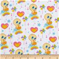 Baby Tweety Flannel Cloud Nine White