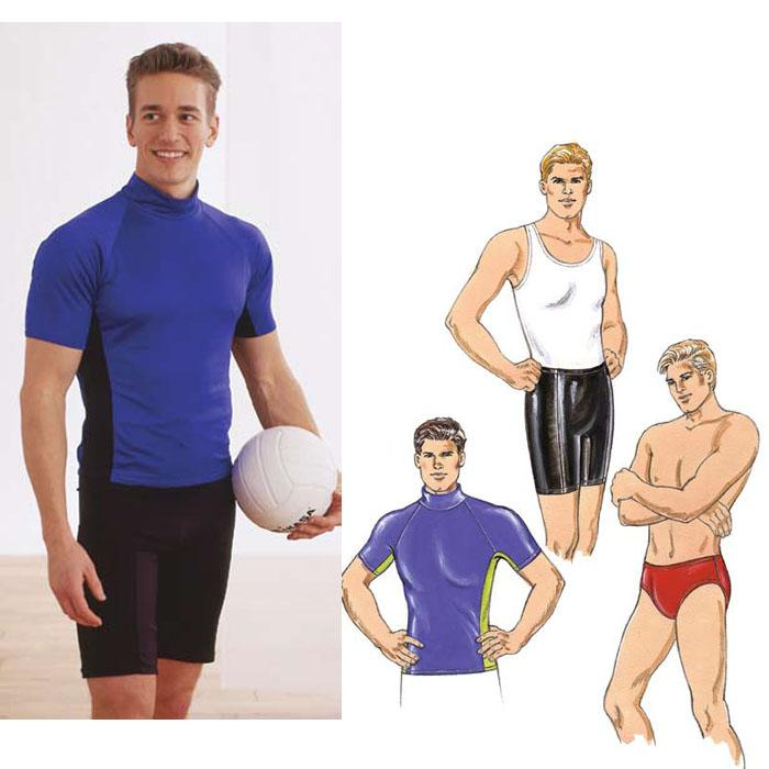 Kwik Sew Men's Close-Fitting Shirt, Shorts & Trunks Pattern