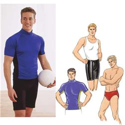 Kwik Sew Men's Close-Fitting Shirt, Shorts & Trunks