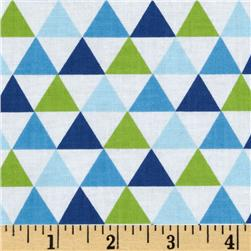 Remix Triangles Royal Blue Fabric