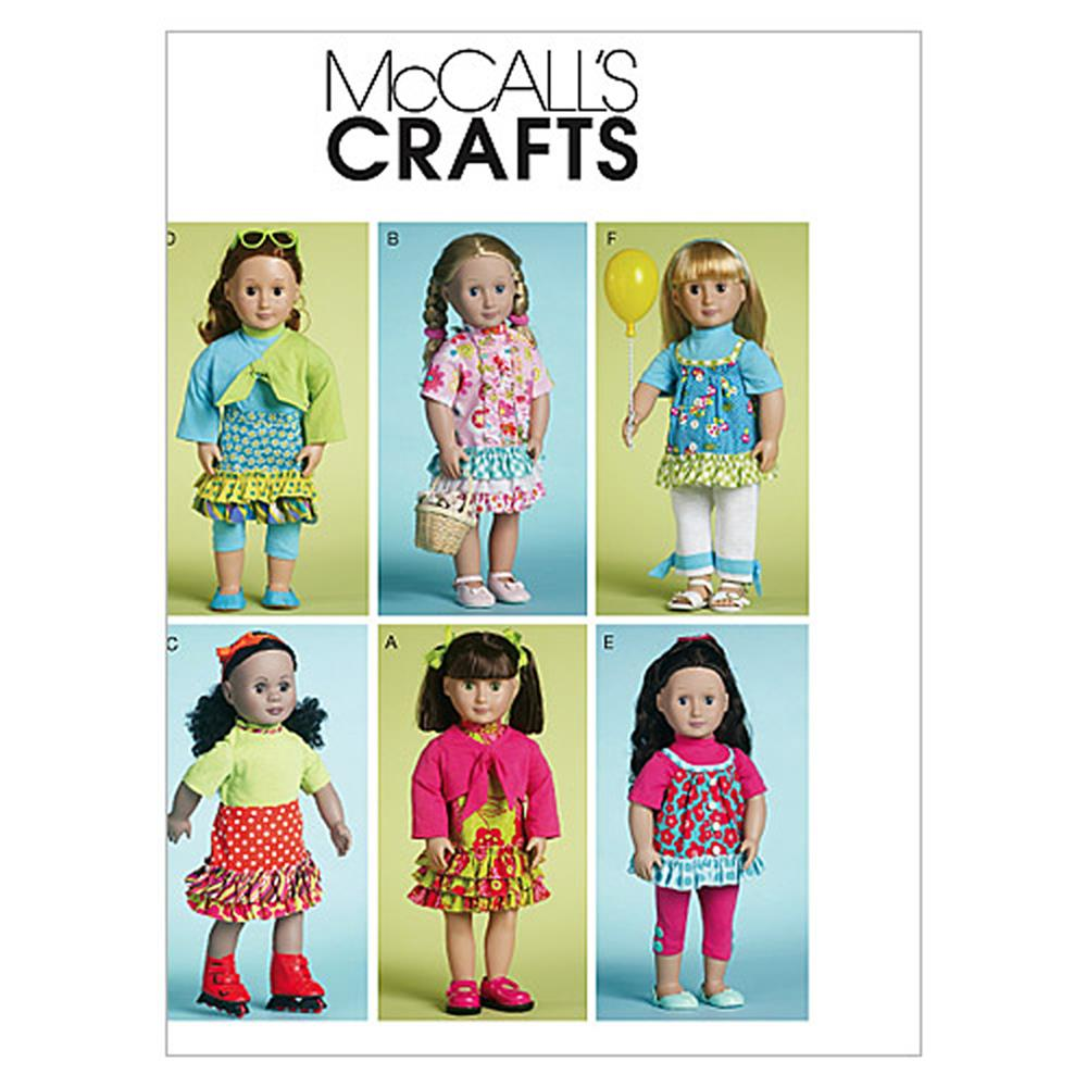 "McCall's Doll Clothes for 18"" Dolls Pattern M6370 Size OSZ"
