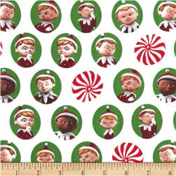 Elf on the Shelf Character Heads White/Green Fabric