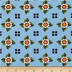 Enchanted Daisy Check Blue