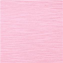 Jersey Cotton Slub Knit Pale Pink