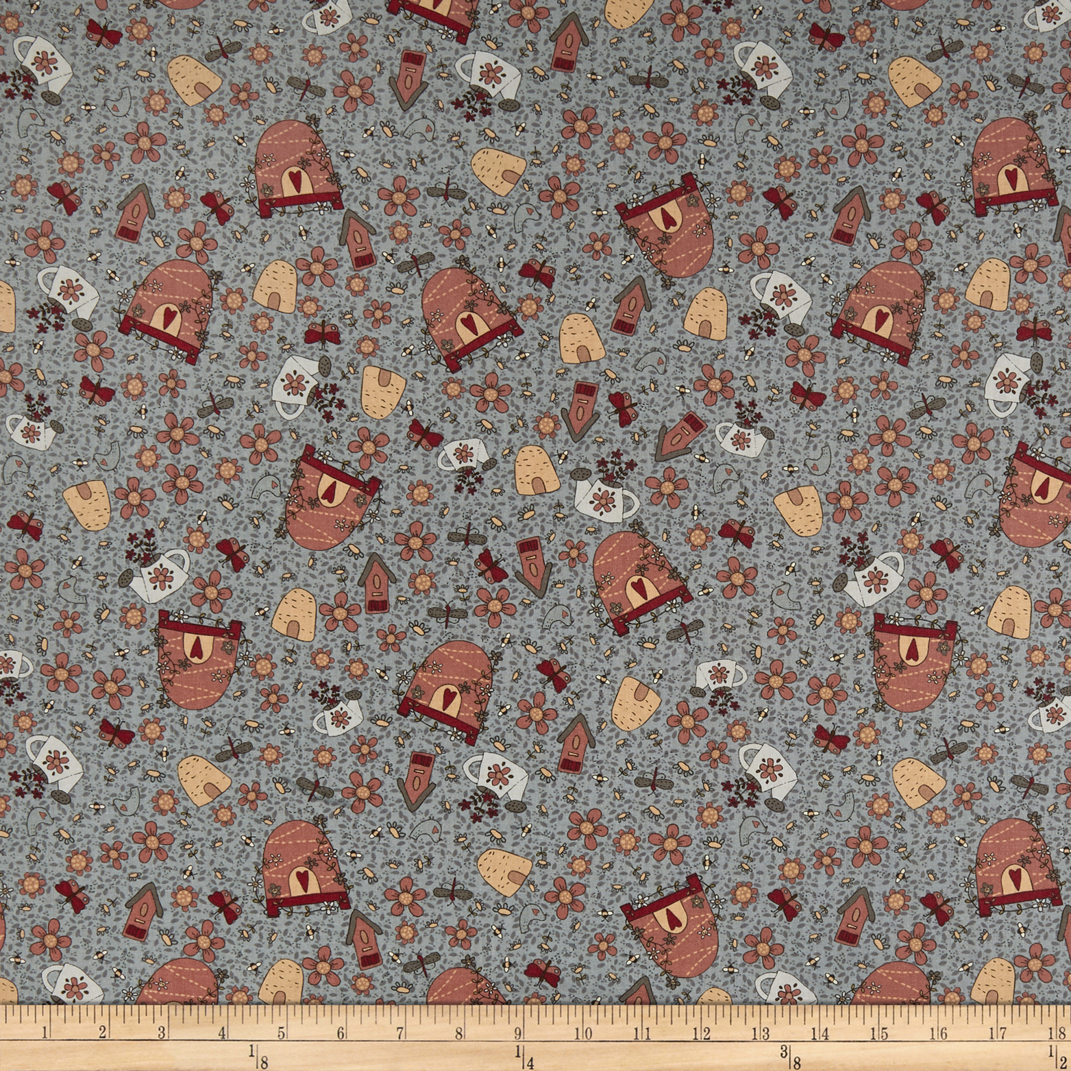 INOpets.com Anything for Pets Parents & Their Pets Lecien Sweet Garden Of Mine Garden Toss Blue Fabric