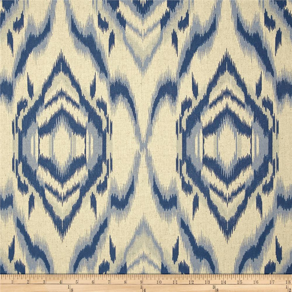 World wide ecuador ikat navy discount designer fabric for Fabric world
